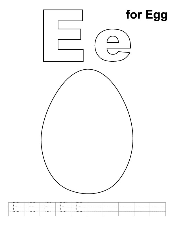 e for egg coloring page easter egg coloring pages bluebonkers letter e for egg e for page coloring