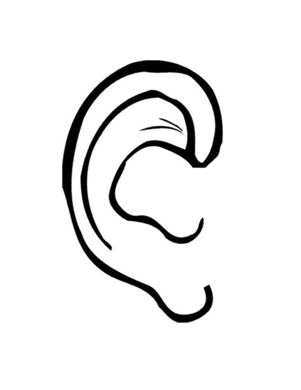 ear pictures to color coloring page ear kleurplaten oor lichaamsdelen pictures ear color to