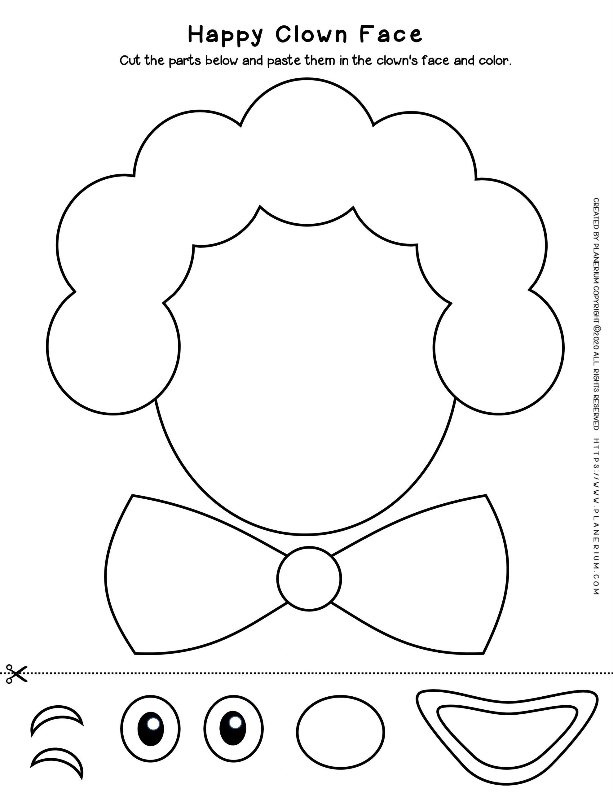 easy clown coloring pages ausmalbild einfaches clown gesicht ausmalbilder easy coloring clown pages