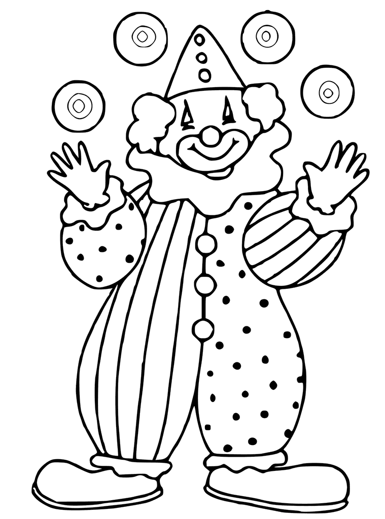 easy clown coloring pages circus for kids circus kids coloring pages pages clown coloring easy