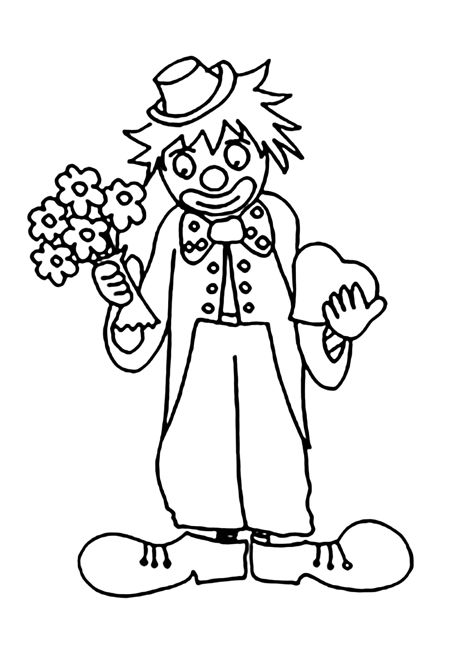 easy clown coloring pages circus to color for kids circus kids coloring pages coloring easy clown pages