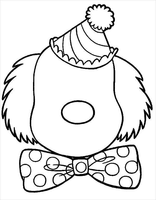 easy clown coloring pages clown coloring pages coloring pages to download and print clown easy coloring pages