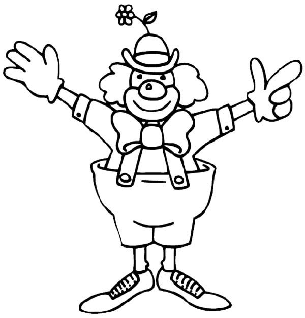 easy clown coloring pages clown drawing at getdrawings free download coloring pages clown easy
