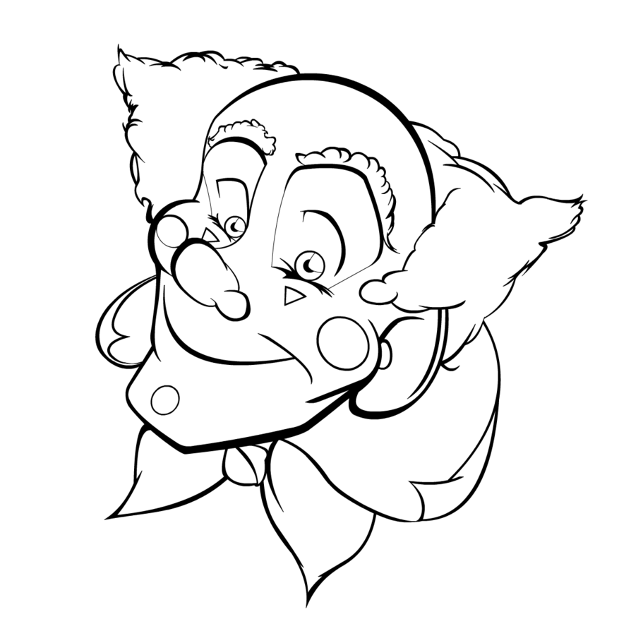 easy clown coloring pages coloring page for kids how to draw pennywise the clown coloring pages easy clown