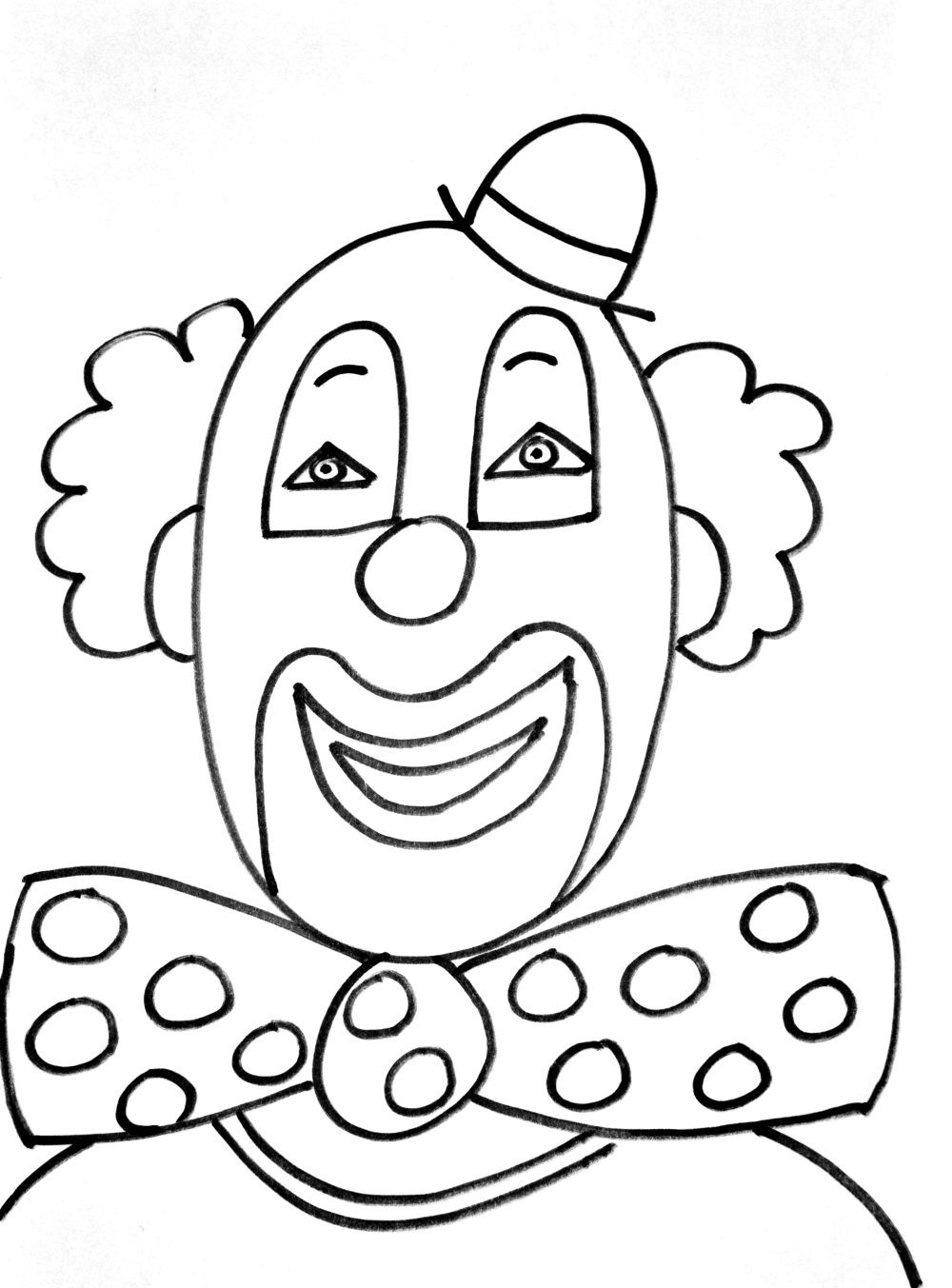 easy clown coloring pages coloring page toy clown easy coloring pages clown