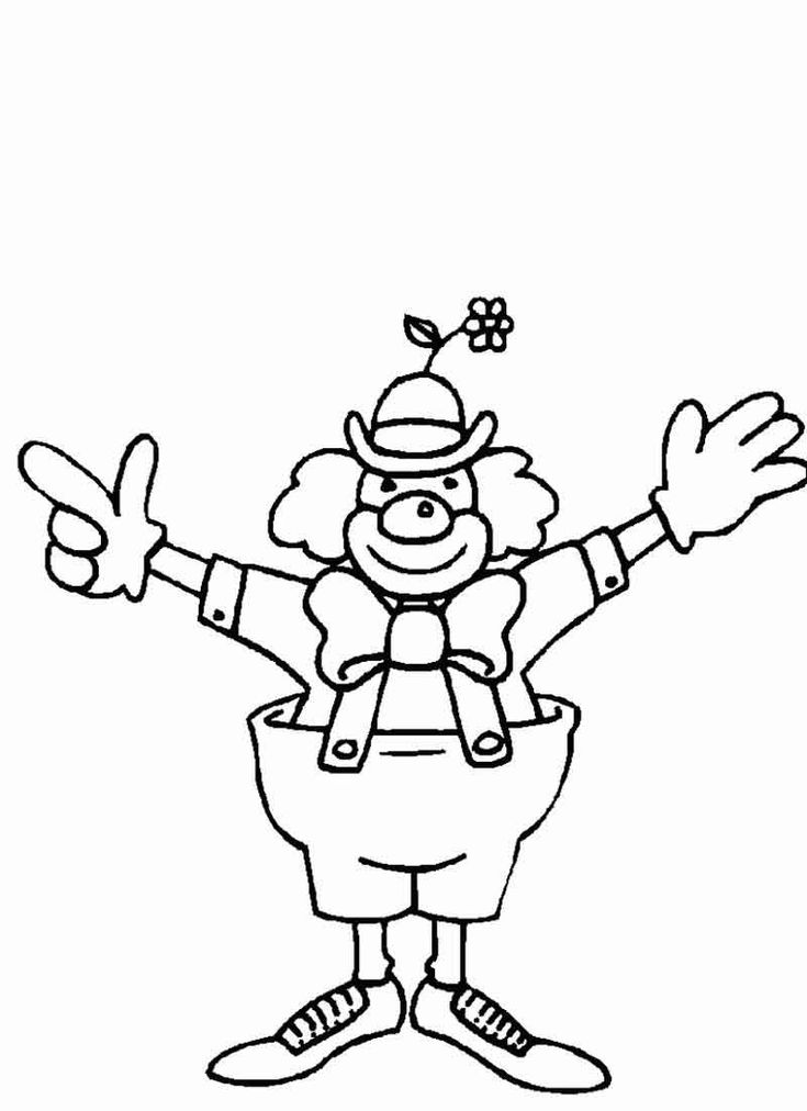 easy clown coloring pages cute clown coloring pages at getcoloringscom free clown pages coloring easy