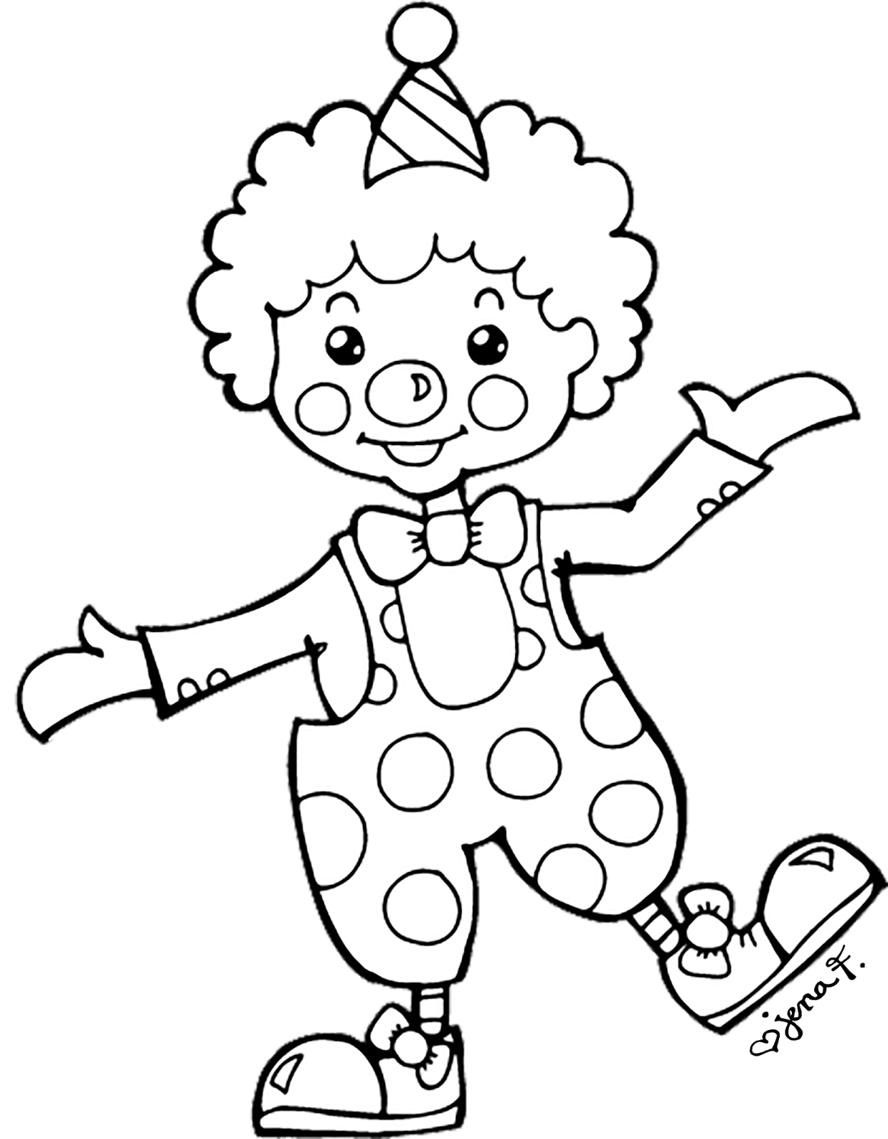 easy clown coloring pages easy clown drawing at getdrawings free download pages easy coloring clown