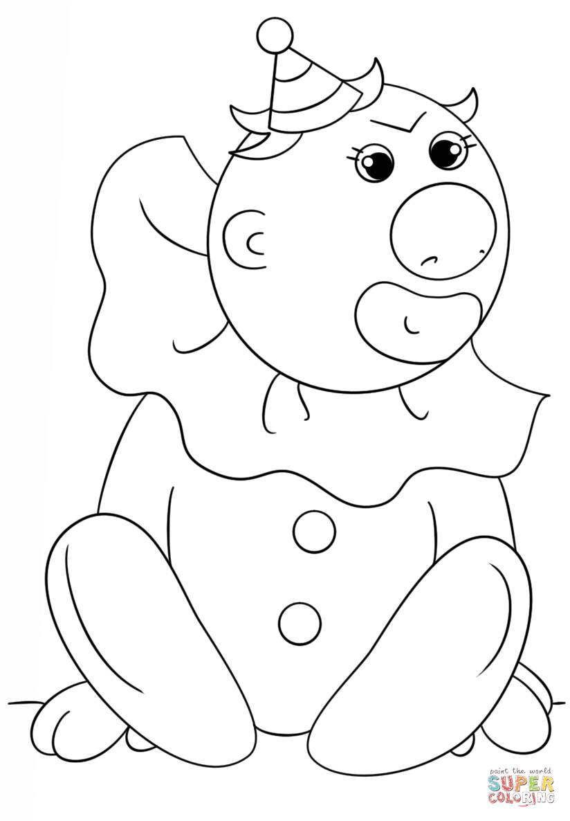 easy clown coloring pages funny circus clown coloring page funny circus clown pages coloring easy clown