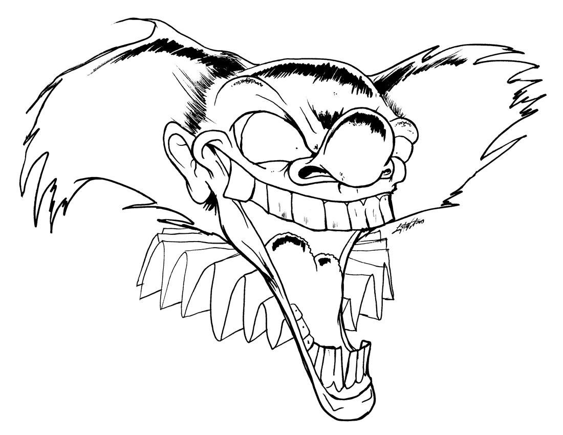 easy clown coloring pages insane clown posse coloring pages at getcoloringscom pages coloring clown easy