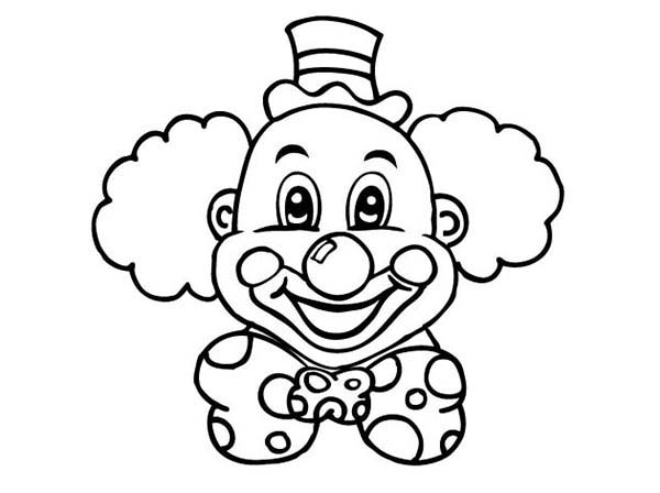 easy clown coloring pages laughing clown head coloring page color luna pages coloring clown easy