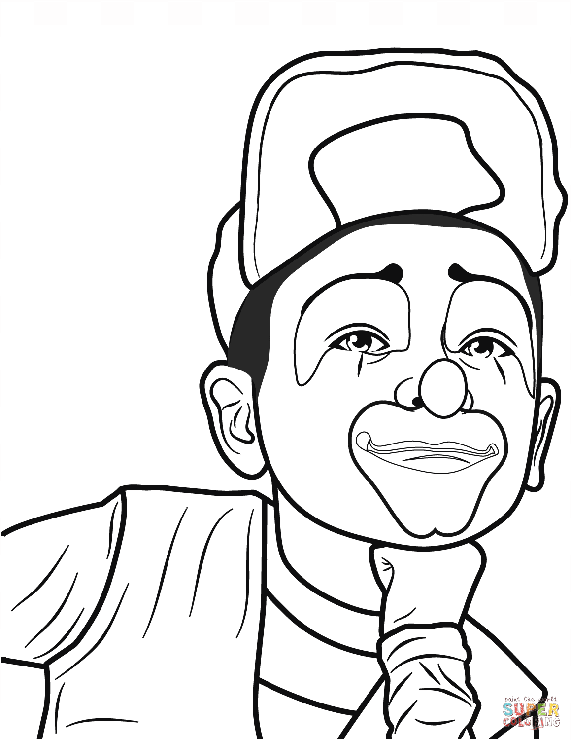 easy clown coloring pages scary clown coloring pages at getcoloringscom free clown coloring pages easy