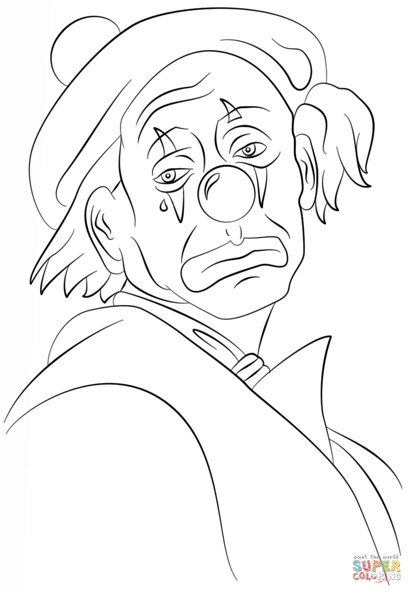 easy clown coloring pages simple clown drawing at getdrawings free download easy clown coloring pages