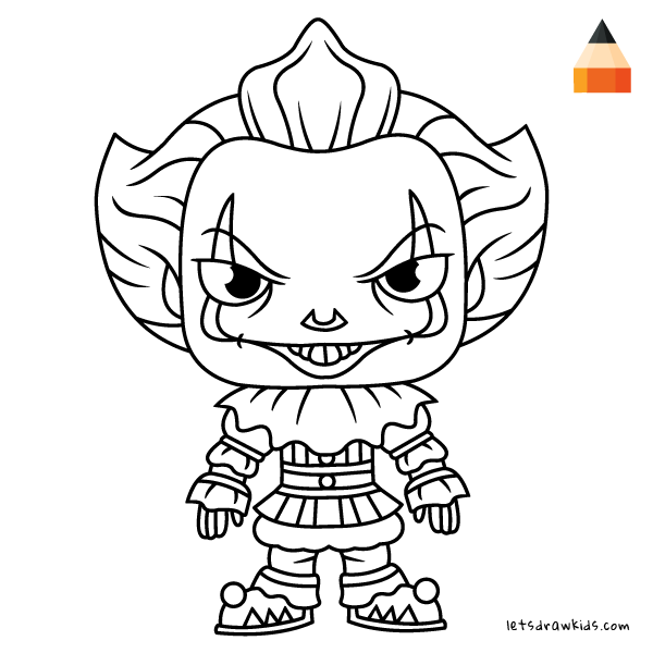 easy clown coloring pages spooky cute halloween coloring pages kids adults pages easy clown coloring