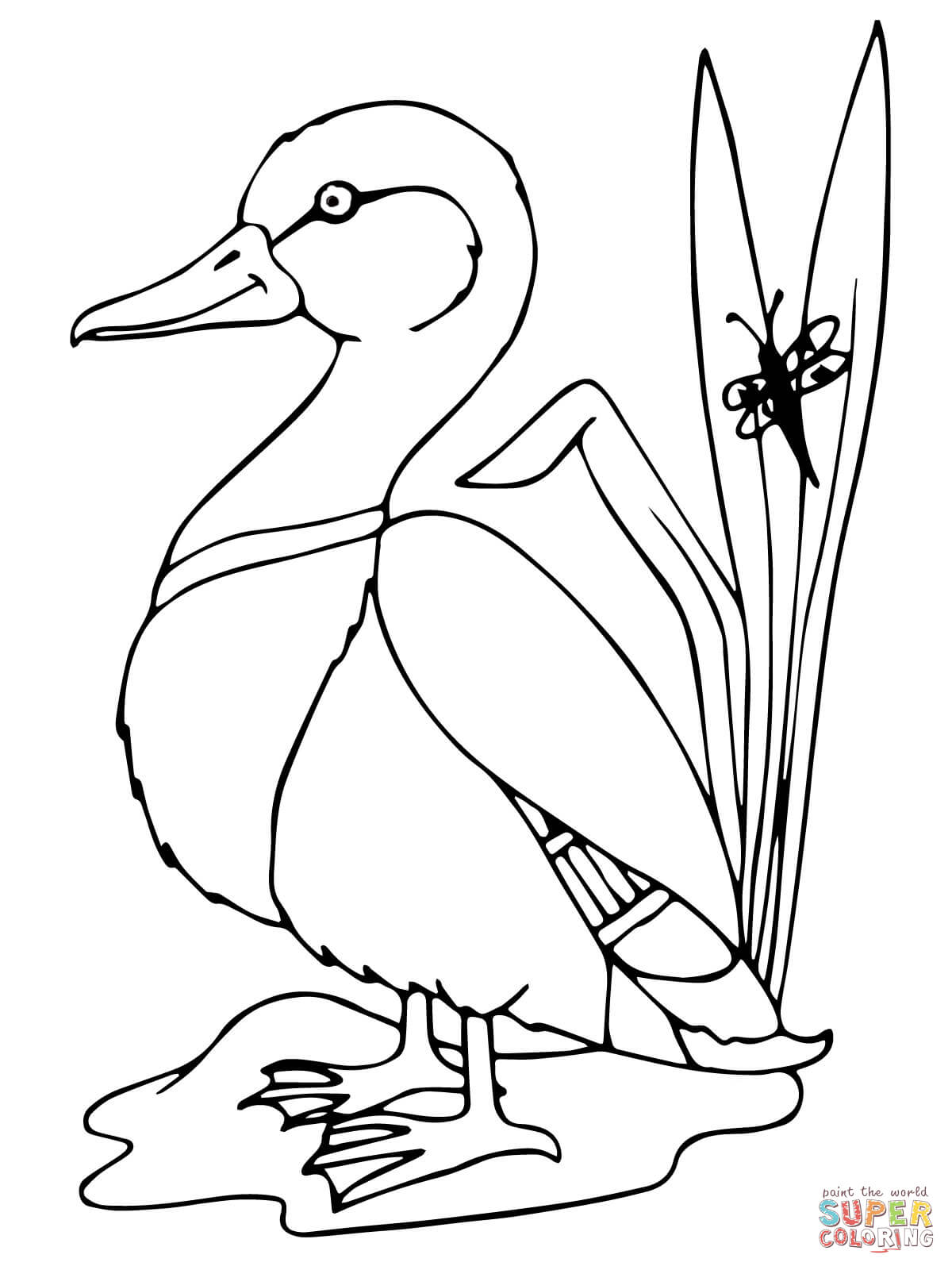 easy duck coloring pages free easy to print duck coloring pages tulamama pages coloring duck easy