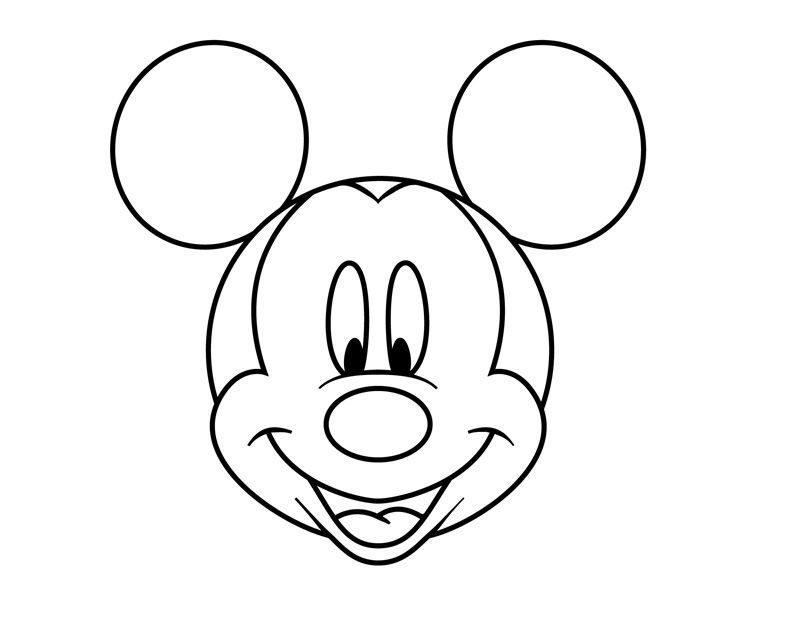 easy mickey mouse drawing easy scenery drawing at getdrawings free download easy mouse mickey drawing