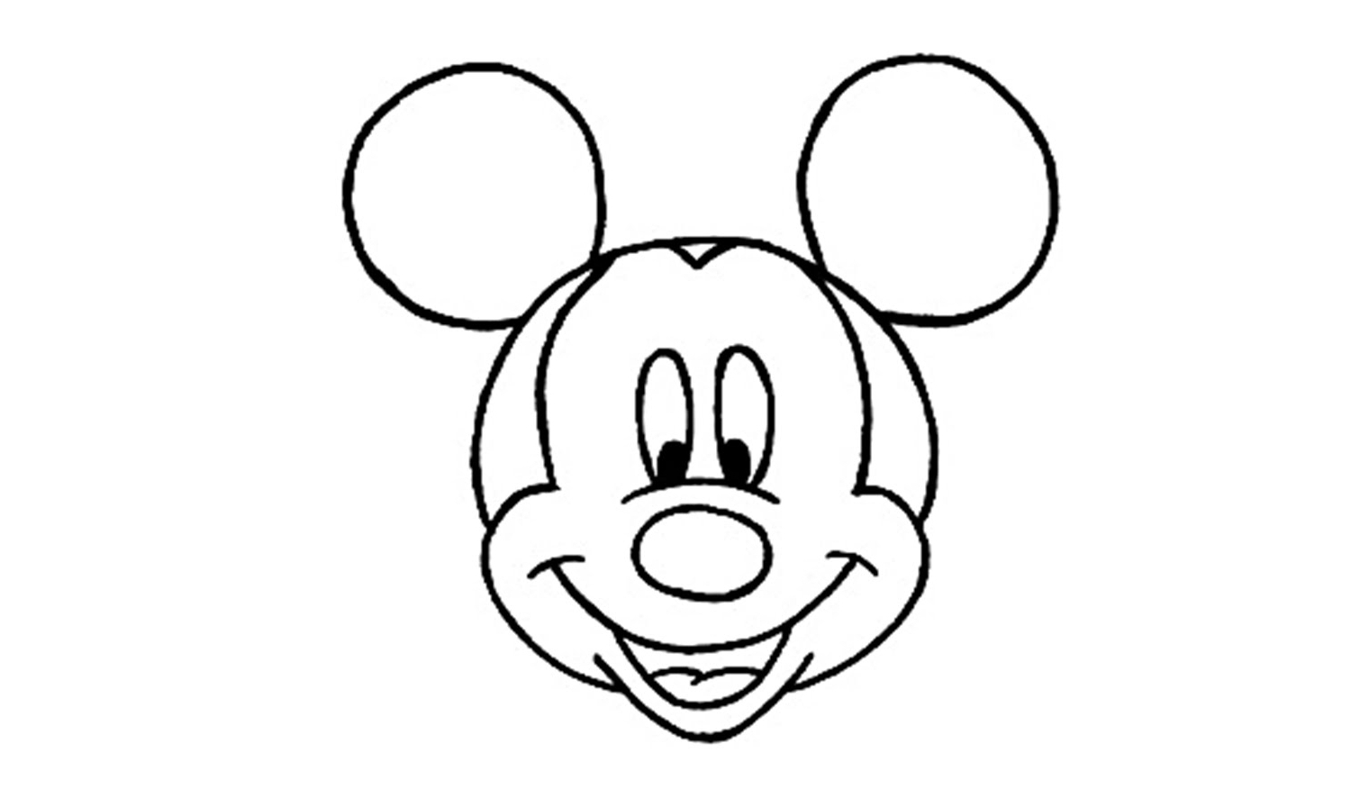 easy mickey mouse drawing mickey mouse zeichnen ausmalbilder und vorlagen mickey mouse easy drawing