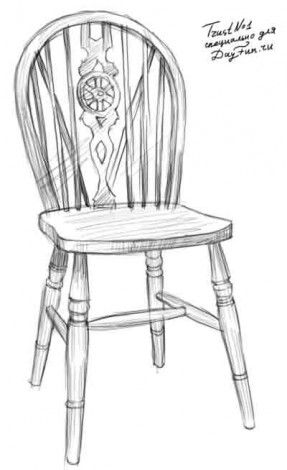 easy to draw chair chair sketch in 2019 chair drawing drawing furniture chair to easy draw