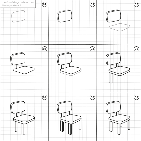 easy to draw chair easy to draw chair chair draw to easy