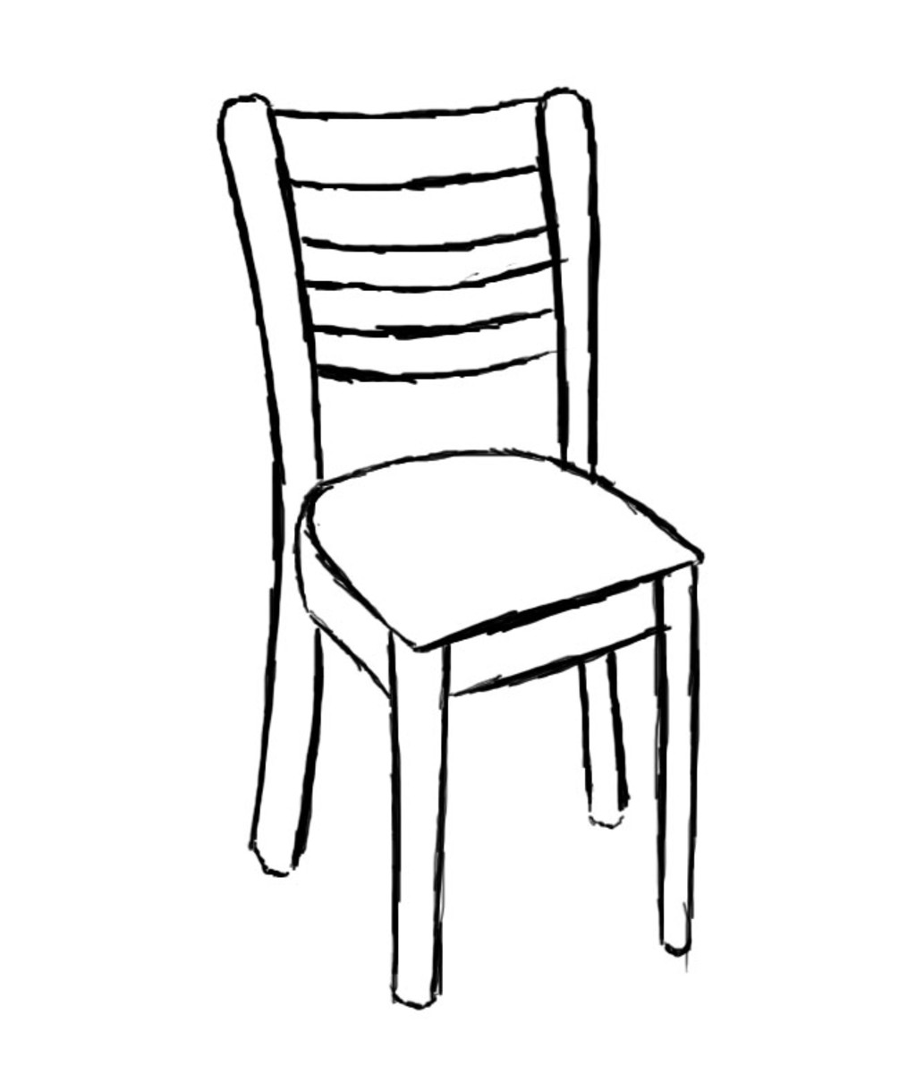 easy to draw chair how to draw a chair drawingforallnet to easy chair draw
