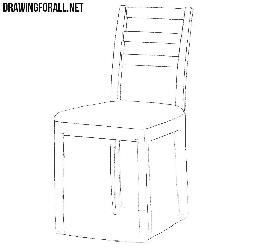 easy to draw chair rocking chair linear line hand drawing a6 by chair draw easy to