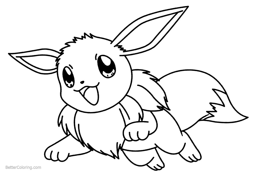 eevee printable coloring pages pokemon coloring pages eevee evolutions coloring home coloring pages eevee printable
