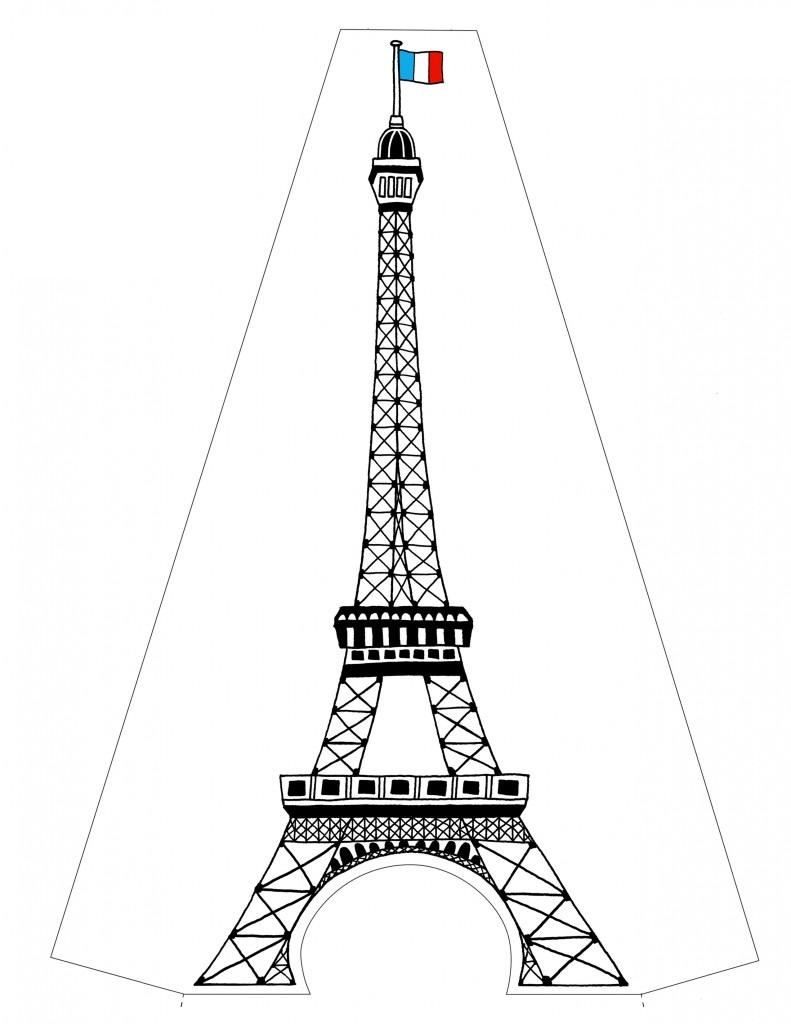 eiffel tower printable eiffel tower and stars in the sky coloring page download tower printable eiffel