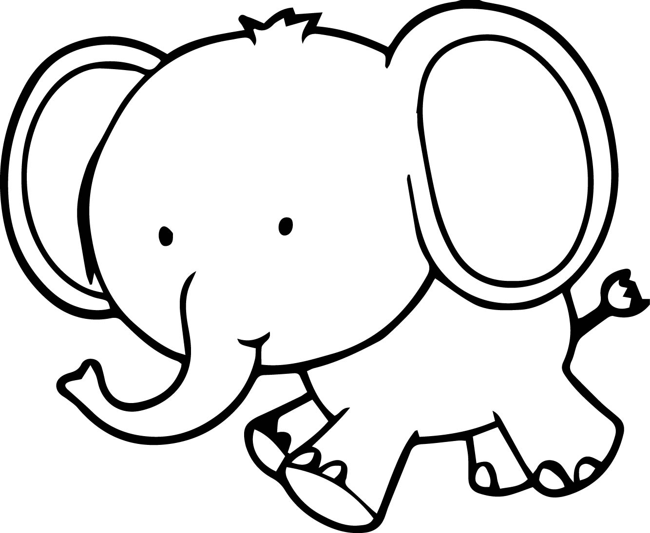 elephant coloring cartoon elephant coloring pages at getcoloringscom free coloring elephant