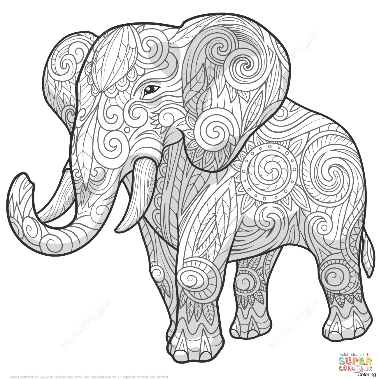 elephant coloring elephant coloring pages for adults best coloring pages elephant coloring