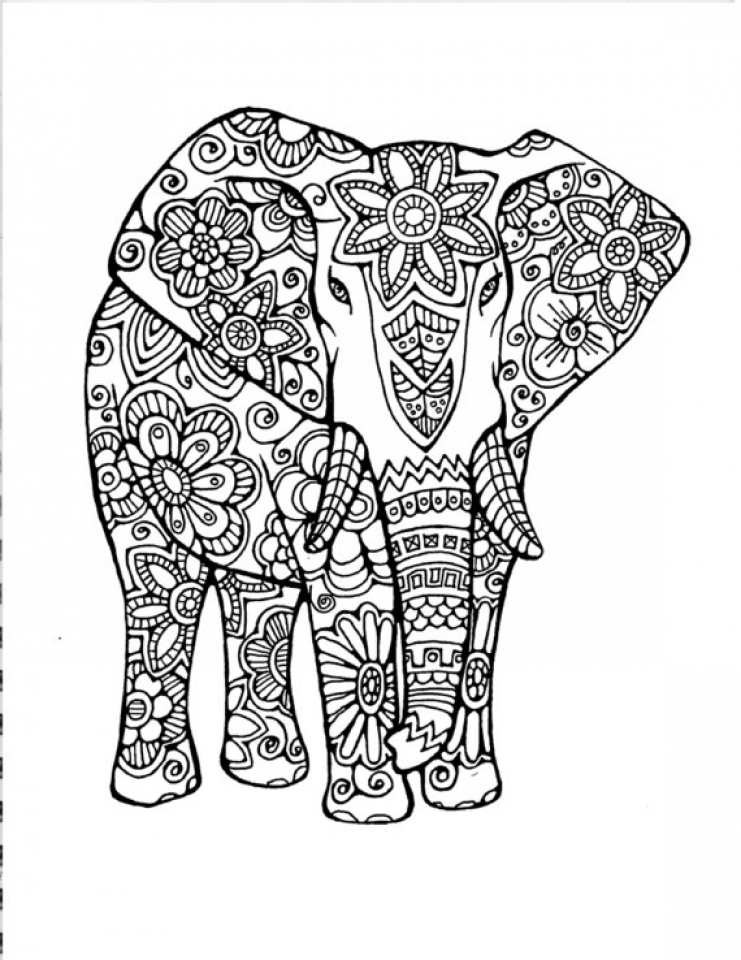 elephant coloring elephant face coloring pages at getcoloringscom free coloring elephant