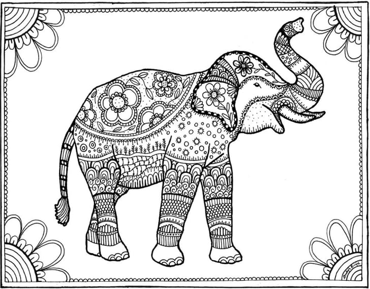 elephant coloring intricate elephant coloring pages at getcoloringscom coloring elephant