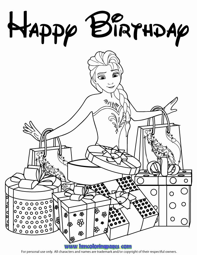 elsa birthday coloring pages 25 free printable happy birthday coloring pages pages coloring elsa birthday