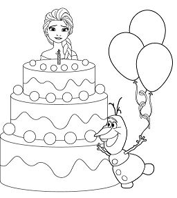 elsa birthday coloring pages birthday cake coloring page kid crafts food coloring birthday coloring pages elsa