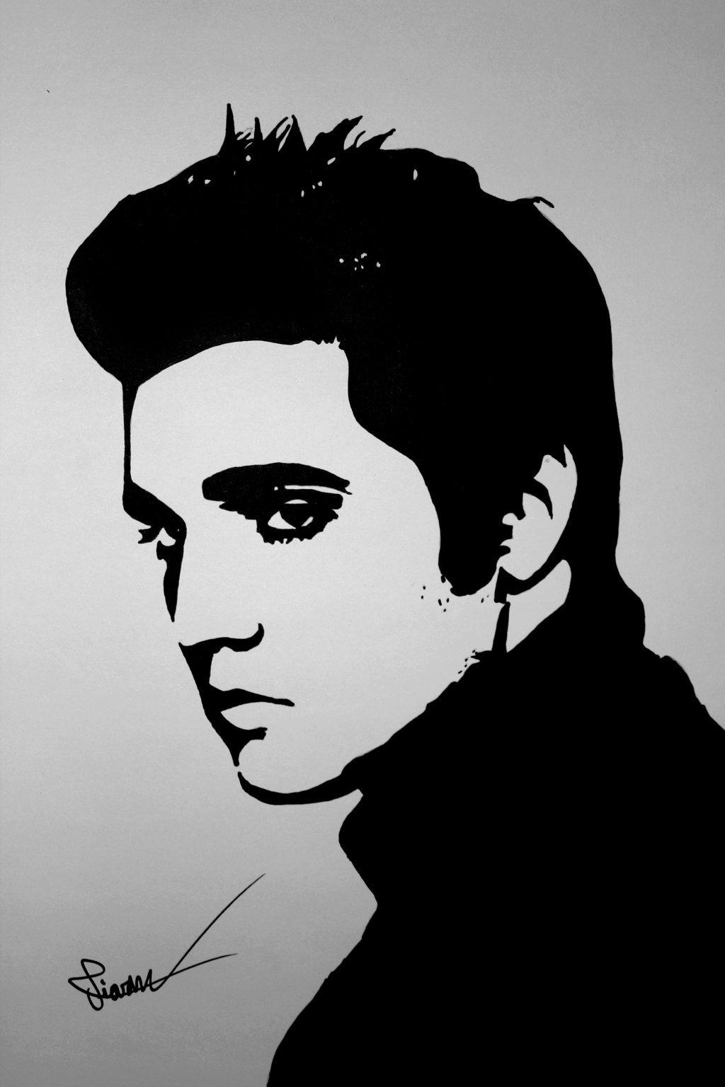 elvis presley drawing elvis presley drawing pointallism drawing by mike oliver elvis drawing presley