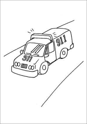 emergency vehicle coloring pages ambulance coloring pages preschool cars trucks and vehicle coloring pages emergency