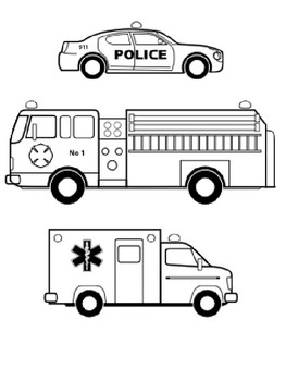 emergency vehicle coloring pages emergency vehicle coloring pages at getcoloringscom coloring vehicle emergency pages