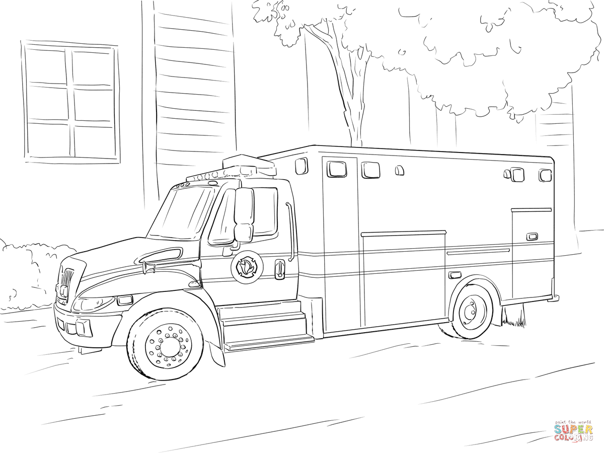 emergency vehicle coloring pages rescue vehicle coloring page for kids transportation vehicle emergency coloring pages