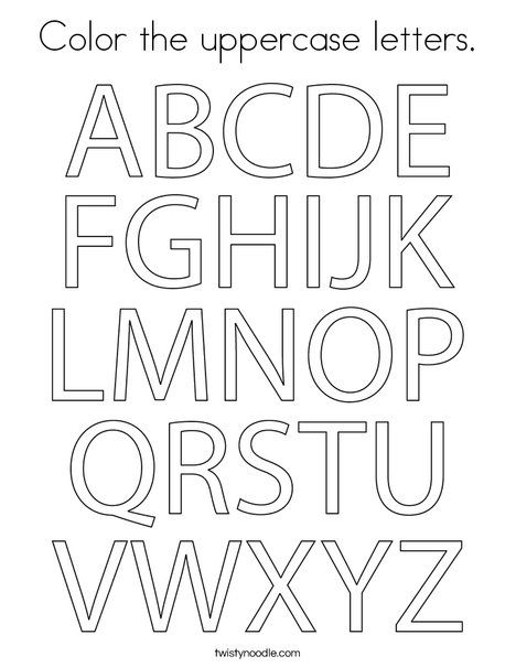 english alphabet coloring pages color the uppercase letters coloring page twisty noodle alphabet english pages coloring