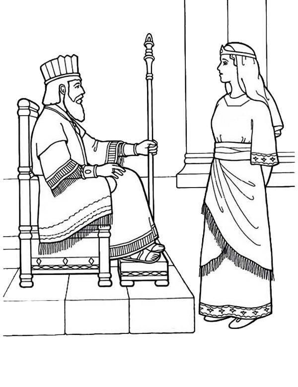 esther bible coloring pages beautiful esther the queen in purim coloring page 1 pages esther coloring bible