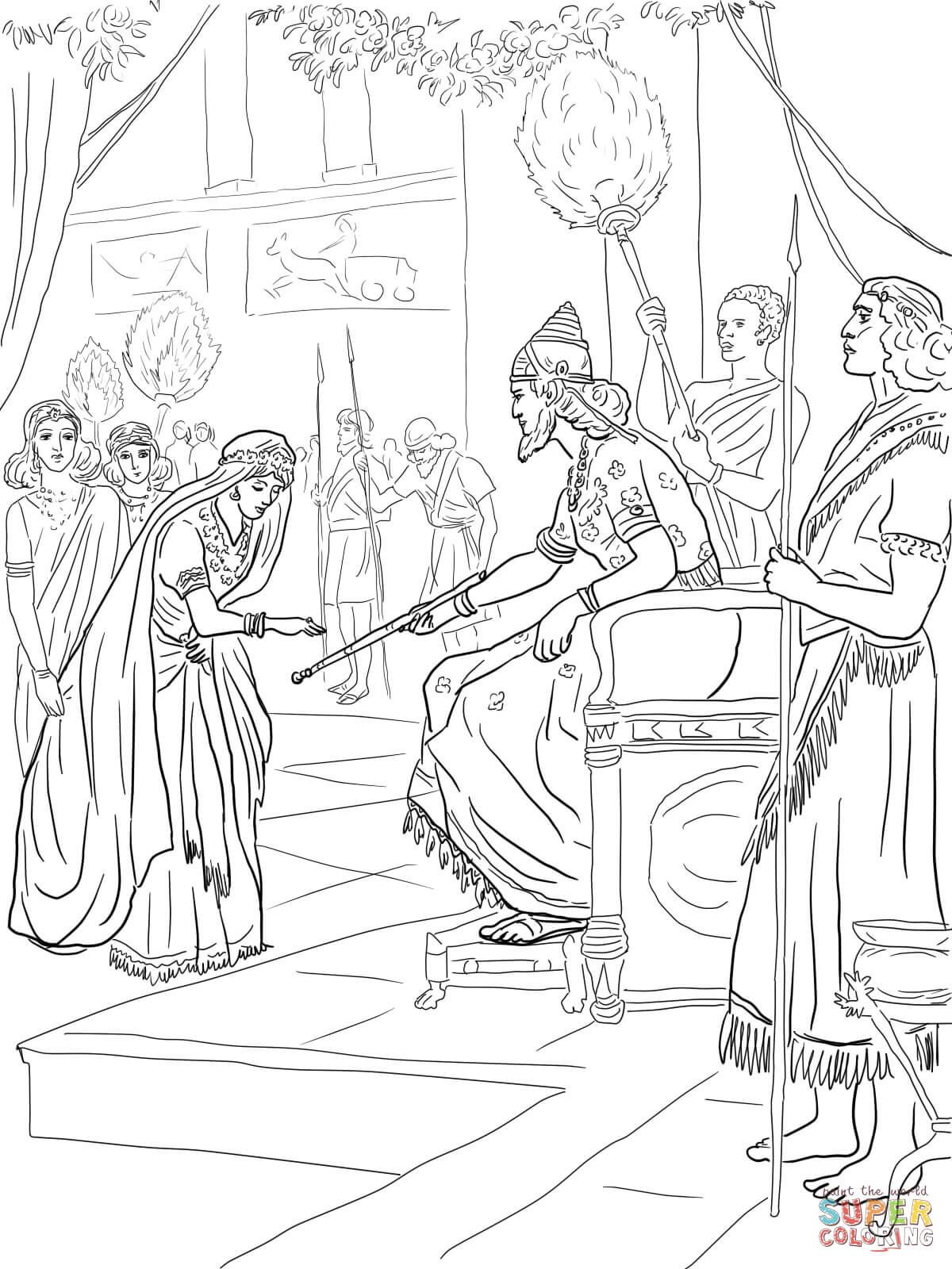 esther bible coloring pages coloring page queen esther bible coloring pages queen pages bible esther coloring