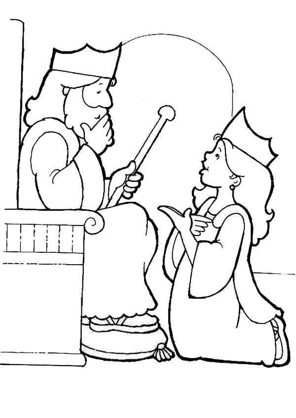 esther bible coloring pages esther become king ahasuerus queen coloring page bible coloring esther pages bible