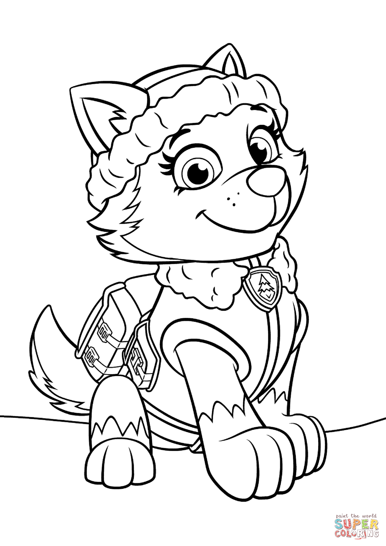 everest paw patrol coloring 4 everest coloring page coworksheets paw everest patrol coloring
