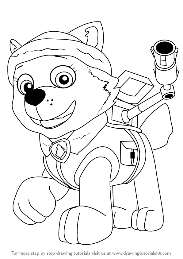 everest paw patrol coloring coloring book paw patrol print free a4 50 pictures paw coloring patrol everest