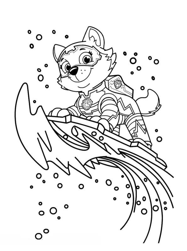 everest paw patrol coloring everest coloring pages coloring home everest patrol coloring paw