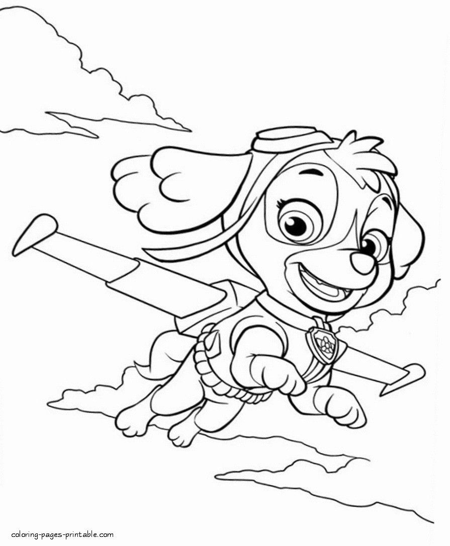 everest paw patrol coloring everest drawing at getdrawings free download patrol everest coloring paw