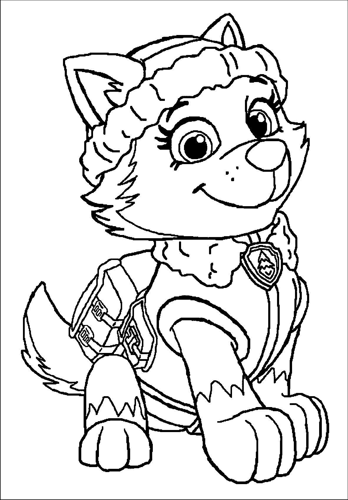 everest paw patrol coloring how to draw everest a female character from paw patrol everest coloring patrol paw