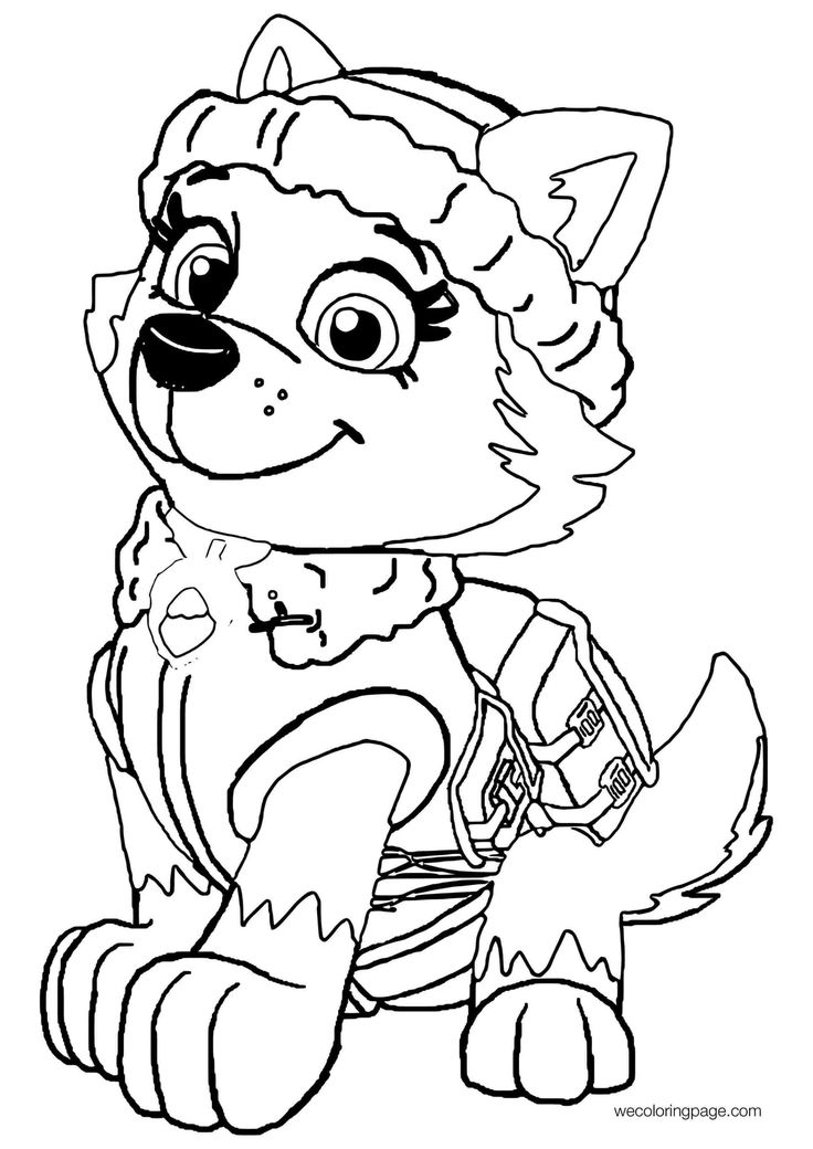 everest paw patrol coloring paw patrol everest coloring page at getcoloringscom everest paw patrol coloring