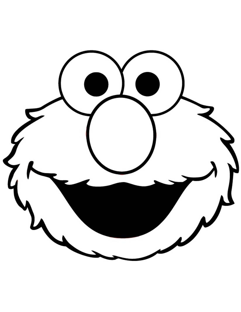 face for coloring elmo face coloring page coloringmecom coloring face for