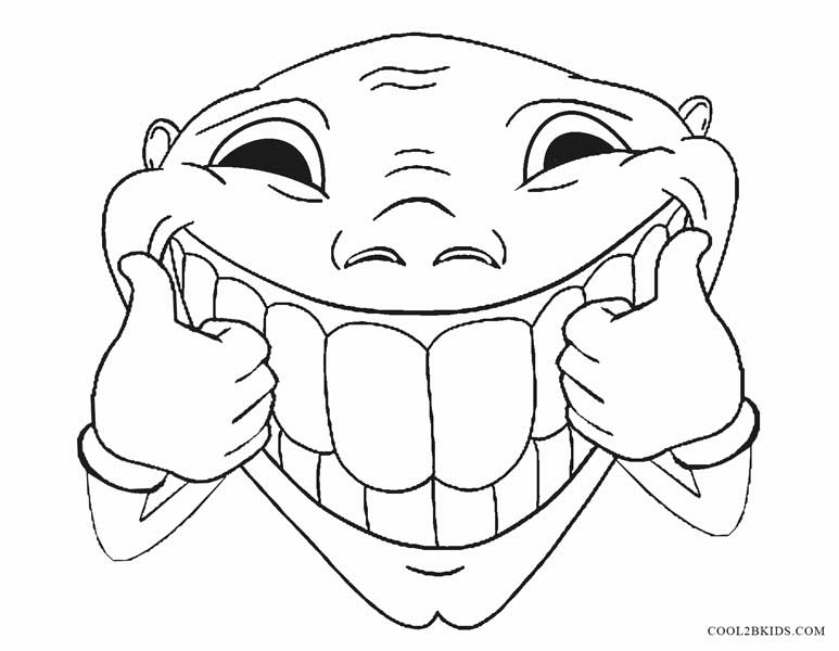 face for coloring printable funny coloring pages for kids for coloring face
