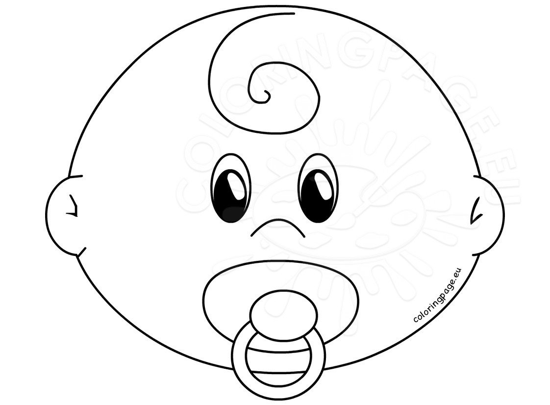 face to colour in baby face with pacifier template coloring page to in face colour