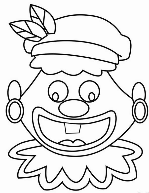 face to colour in clown wear earing silly face coloring page coloring sky to face colour in